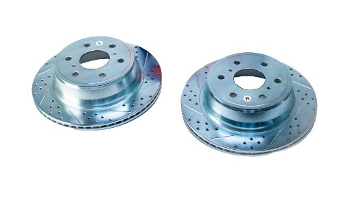 BAER 55133-020 Sport Rotors Slotted Drilled Zinc Plated Rear Brake Rotor Set - Pair