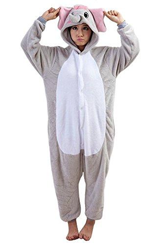 (Tonwhar Elephant Sleepsuit Pajamas Costume Cosplay Homewear Lounge Wear (L(Height:165cm-173cm),)