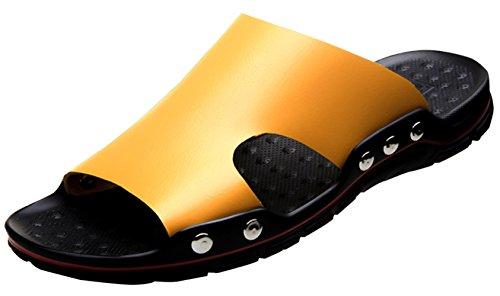 Alta Mejorada Ocasionales Yellow Libre Hombres Aire Versión Moda De Zapatillas Al Calidad Para Sandalias Playa rwOrgP