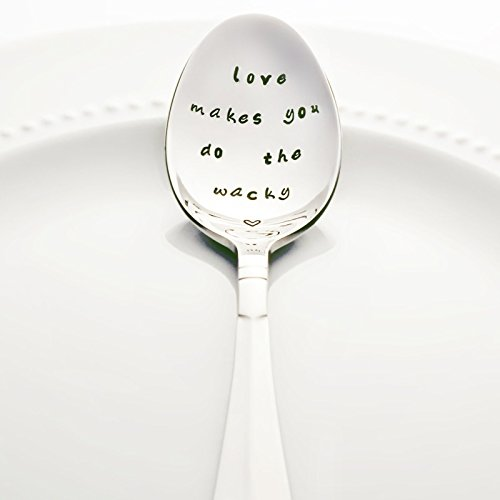 Buffy the Vampire Slayer: Love Makes You Do the Wacky - Stamped Spoon, Stamped Silverware - Wedding Anniversary Gift