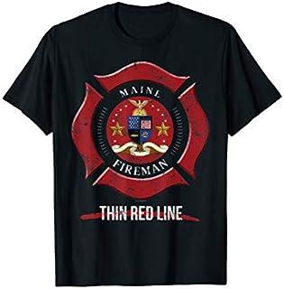 Birthday Gift Maine Firefighter  Volunteer Firefighter  Short and Long Sleeve Shirt/Hoodie