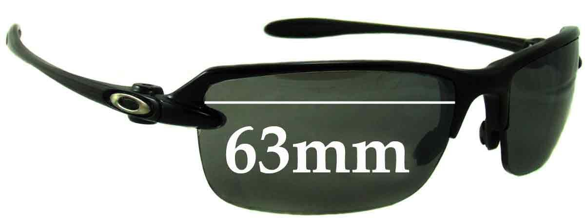 622a9fe6cf Amazon.com  SFx Replacement Sunglass Lenses fits Oakley Ice Pick 63mm Wide (Polycarbonate  Clear Hardcoat Pair-Regular)  Clothing
