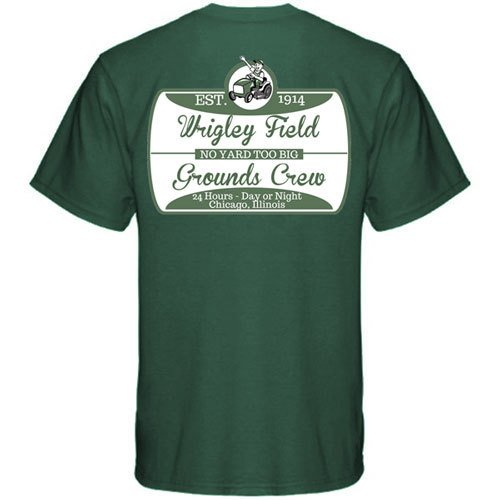 1ae8dfaba Amazon.com : Wrigley Field Grounds Crew T-Shirt by ThirtyFive55 : Sports &  Outdoors