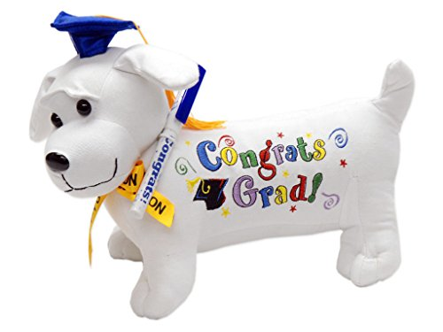 Graduation Autograph Stuffed Dog w/ Pen,