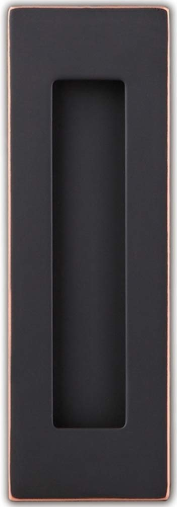 Sehrgut Flush Pull (6 Pack) 6'' Rectangular-Plated Oil Rubbed Bronze, Free of Sharp Edge
