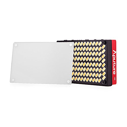 Aputure AL-MX Mini LED Video Light 2800K-6500K Color Temperature CRI95+ 128pcs LED Beads Adjustable Brightness Built-in Lithium Battery with Cold Shoe Mount Carry Bag with Andoer Cleaning Cloth by Aputure (Image #5)