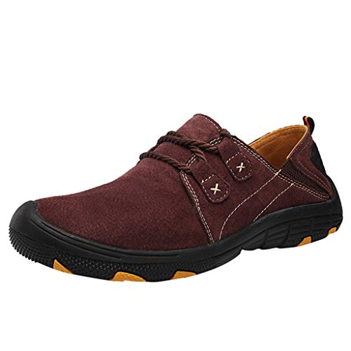 Hiking Boots Climbing Shoes Sneakers for Men Large Size Casual Breathable Outdoor Training Loafers Shoes Miuye Wine from Miuye yuren-Shoe