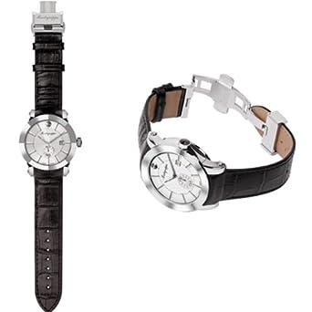 Montegrappa Nero Uno Uhr -Schweizer Quartz Uhrwerk Ronda 6004 IDNUWAIW
