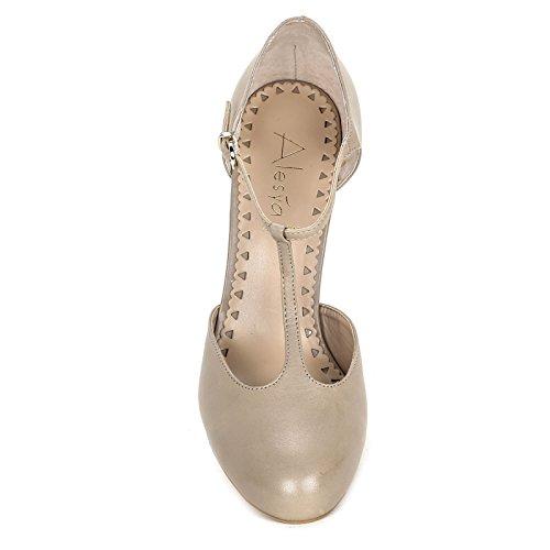 ALESYA by Scarpe&Scarpe - Zapatos de salón con T-bar Gris