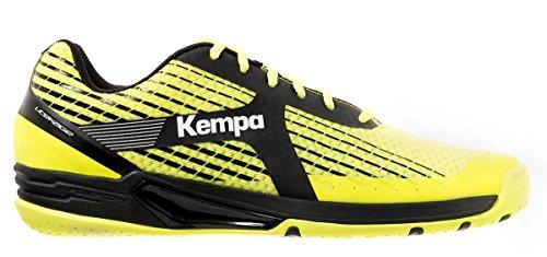 Kempa Wing Caution Zapatillas de Balonmano, Unisex Adulto, Amarillo (Flour) / Negro (Antracita), 6