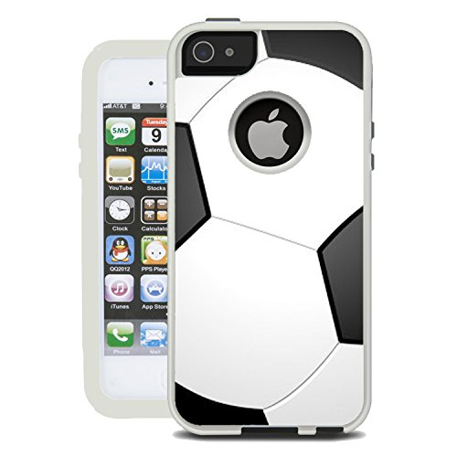 f2c2b5e62901 Protective Designer Vinyl Skin Decals   Stickers for OtterBox Commuter  iPhone 5S   5   SE Case - Soccer Design Patterns - Only SKINS and NOT Case  - by ...