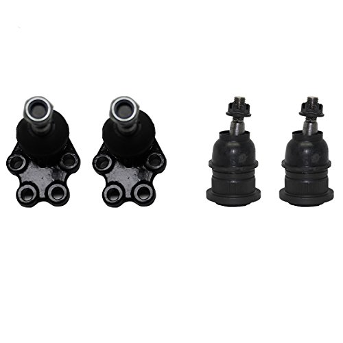 Detroit Axle - 4pc Front Lower and Upper Ball Joints Kit for 2WD Coil Spring Suspension - 1999-2006 Chevy Silverado/Sierra 1500 - [2007 Classic Chevy Silverado/Sierra 1500]
