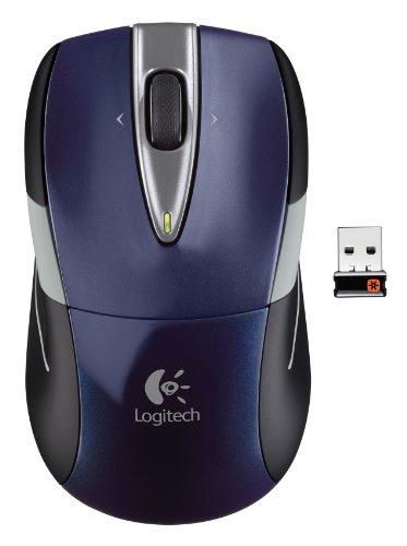 Logitech Wireless Mouse M525 - Navy/Grey (Mouse Grey Rubber)
