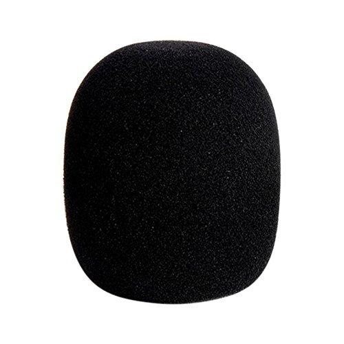 acaciafashion Thickening Micrófono Esponja Cover Espuma ball-type Micrófono parabrisas, Negro