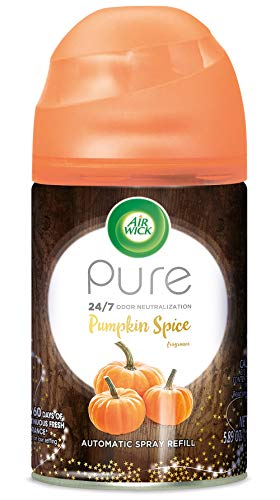 - Air Wick Pure Fall Freshmatic Automatic Spray, Pumpkin Spice, 1ct, Air Freshener, Essential Oil, Odor Neutralization, Packaging May Vary