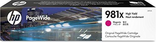 Hewlett Packard L0R10A 981X XL Magenta OEM Pagewide Ink Cartridge Ridge