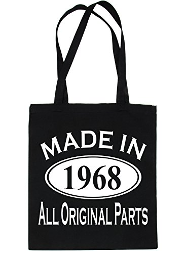 Print4u Birthday Bag Made 50th For Tote Black In Shopping Life 1968 7qxw7rZRp