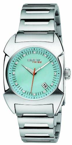 Breil TW0350 - Reloj analógico de mujer de cuarzo con correa de acero inoxidable plateada - sumergible a 100 metros: Amazon.es: Relojes