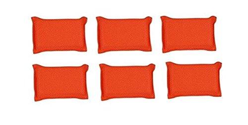 Zolo KN 102 Soft Texture Bath Sponge Pack of 6 Orange
