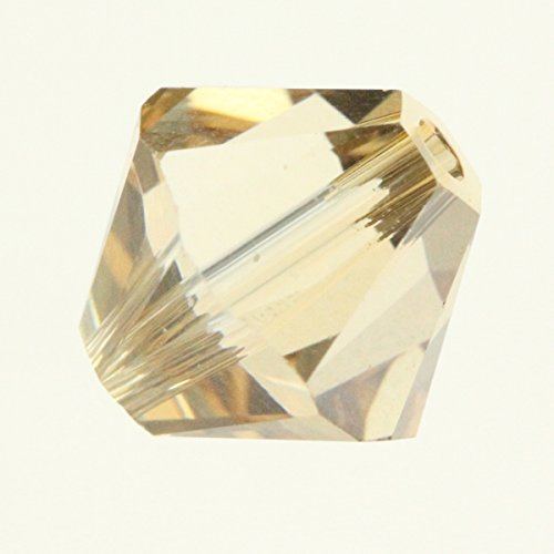 100pcs Genuine Preciosa Bicone Crystal Beads 3mm Crystal Champagne Alternatives For Swarovski #5301/5328 (Champagne Bicone)