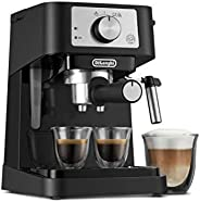 De'Longhi Stilosa Manual Espresso Machine, Latte & Cappuccino Maker, 15 Bar Pump Pressure + Manual Mil