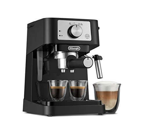 De'Longhi Stilosa Manual Espresso Machine, Latte & Cappuccino Maker, 15 Bar Pump Pressure + Manual Milk Frother Steam…