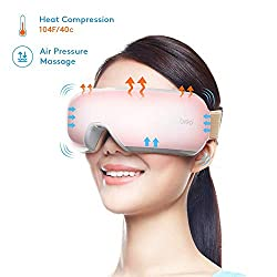 Breo iSee 3S Electric Eye Temple Massager with Air Pressure Music Vibration Heat Compression Therapy for Dry Eye Relax Eyesight Care Stress Fatigue Relief