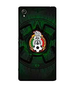 ColorKing Football Mexico 08 Black shell case cover for Sony Xperia Z5