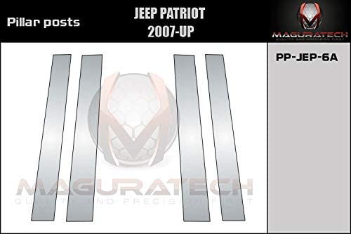 B Pillars Covers for Jeep Patriot 2007 2008 2009 2010 2011 2012 2013 2014 2015 2016 2017 2018 2019-4 Pieces AUTOCARIMAGE Stainless Steel Pillar Posts