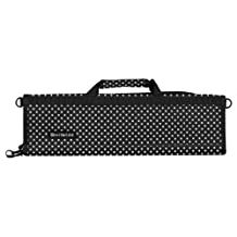 Messermeister 6 Pocket Padded Knife Roll, Black with White Dots
