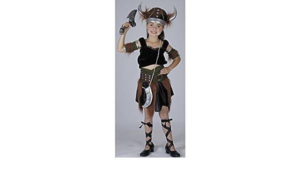 JUGUETILANDIA Disfraz Vikinga Niña Talla M: Amazon.es: Juguetes y ...