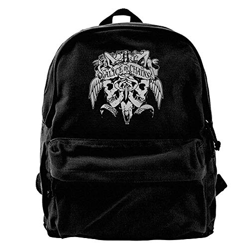 Alice In Chains Skull Logo Canvas Laptop Bag/Shoulder Bag/School Backpack