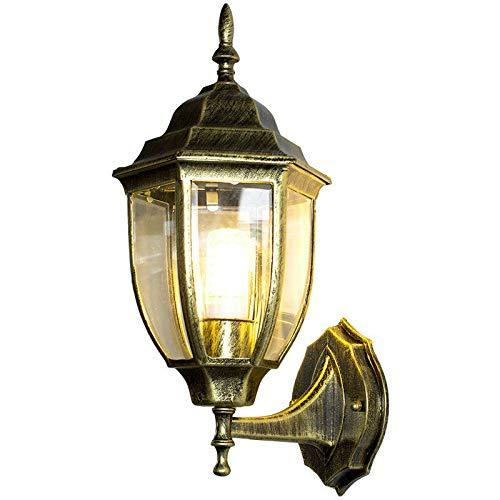 GYHTXHJPET Europeo LED retrò pastorale, 028 esterno muro luce lanterna in Acciaio Inossidabile luce Spot Giardino Lampada impermeabile