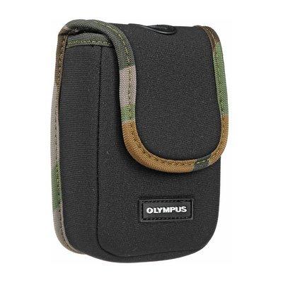 Olympus Digital Camera Black w/Camo Trim Case by Olympus