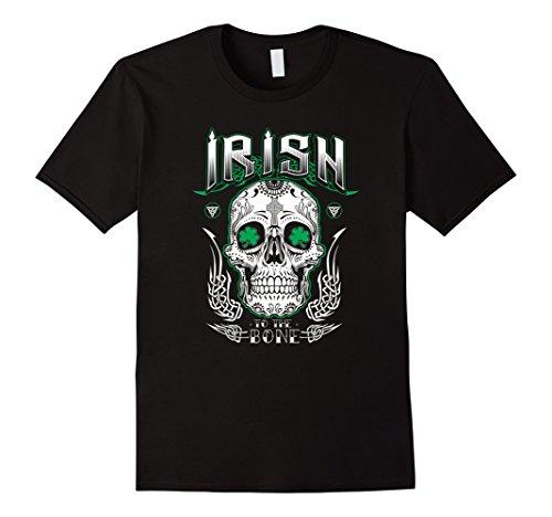Mens Cool Irish to the Bone Sugar Skull T-Shirt 2XL (Celtic Bone)