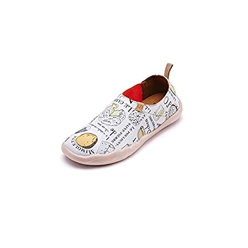 9026cfa043267 UIN Women s Sweet Macarons Painted Canvas Shoe White hot sale ...