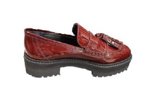 ATOS LOMBARDINI - Mocasines de Piel para mujer granate Size: 37: Amazon.es: Zapatos y complementos