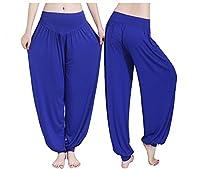 fitglam Women's Soft Modal Yoga Pants Long Baggy Sports Workout Dancing Trousers