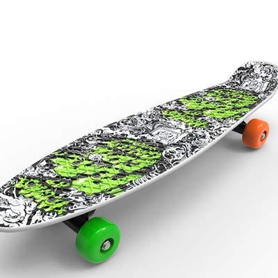 Four-Wheel Longboard 22 Inches Mini Cruiser Complete Deck Skateboard Street Long Skate Board Outdoor Sport for Adult Or Children Street Printing -