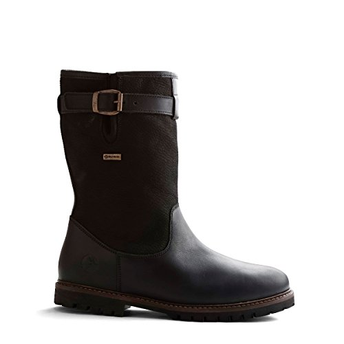 Travelin North Cape Outdoor Stiefel Leder Herren | Wasserdicht & Gefüttert | Bergstiefel Wanderstiefel Outdoorschuhe Winterstiefel Schneestiefel | Schwarz 44 EU