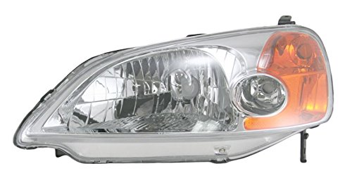 Headlight Headlamp Driver Side Left LH for 01-03 Honda Civic 4 Door (Honda Civic Headlight Lh Driver)