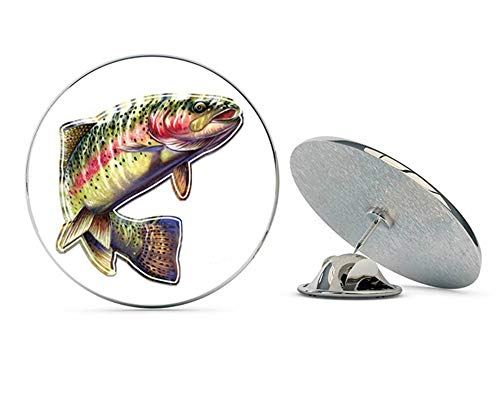 "NYC Jewelers Rainbow Trout Beautiful Full Color Metal 0.75"" Lapel Hat Pin Tie Tack Pinback"
