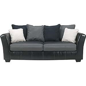 Amazon Ashley Furniture Masoli Sofa in Cobblestone