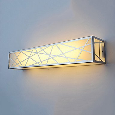 Brief Led Grid Wall Light Iron Plating