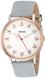Fossil Women's ES4057 Vintage Muse Three-Hand Iron Leather Watch