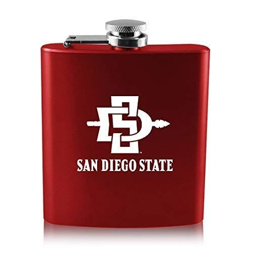 【予約中!】 San Diego State University - 6オンスカラーステンレススチールflask-red   B0188IUG0O, スマホ Goooods Factory dcffef49