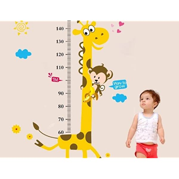 Love Dream Baby Height Growth Chart Removable Little Monkeys Tree /& Animals Kids Room Nursery Wall Decals Stickers