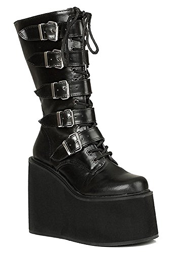 90s Grunge Cyber Hipster Military Combat Mega Cosplay Rave Platform Womens Boots 7