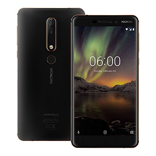 Nokia 6.1 (Nokia 6 2018) (TA-1068) 4GB / 64GB 5.5-inches Dual SIM Factory Unlocked - International Stock No Warranty (Black / Copper)