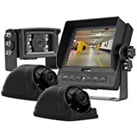 3-Camera Vehicle Viewing Kit with 5 in LCD Monitor